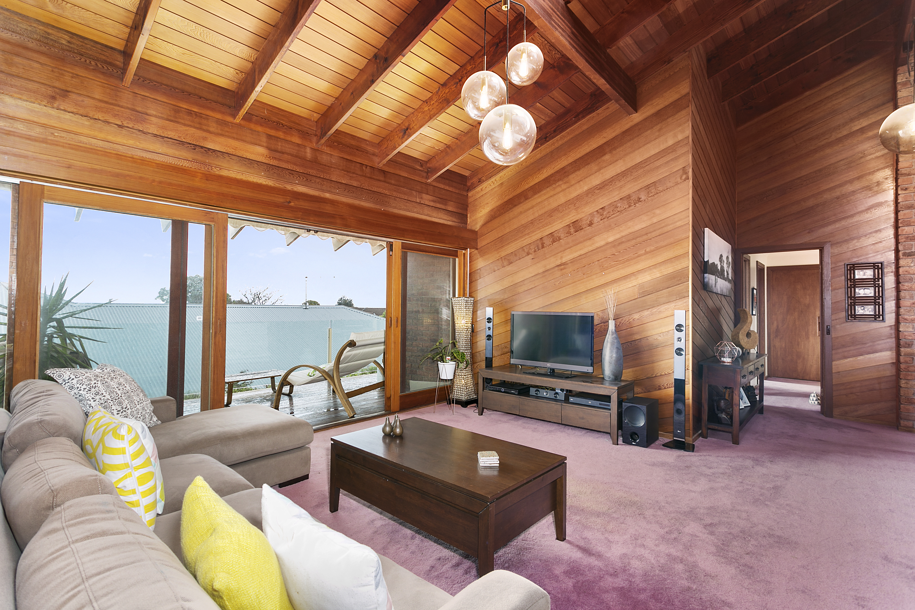 Lounge room opening onto deck